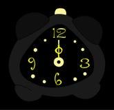 Horloge d'alarme de minuit Photo libre de droits