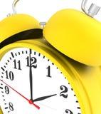 Horloge d'alarme jaune Photo libre de droits