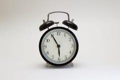 Horloge d'alarme noire Photos stock