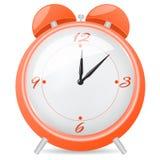 Horloge d'alarme orange Images libres de droits