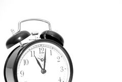 horloge d'alarme rétro photographie stock libre de droits