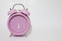 Horloge d'alarme rose Photo libre de droits