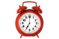 Horloge d'alarme rouge Photo libre de droits