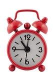 Horloge d'alarme rouge photographie stock libre de droits