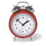 Horloge d'alarme rouge Image libre de droits