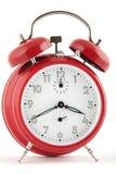 Horloge d'alarme rouge Image stock