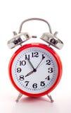 Horloge d'alarme rouge Photos libres de droits