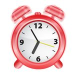 Horloge d'alarme, vecteur Photos stock