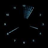 Horloge d'analogue de Digitals DEL Photos libres de droits