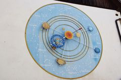Horloge d'astronomie image stock