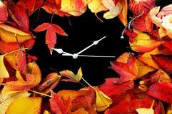 Horloge d'automne Images libres de droits