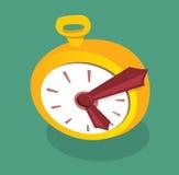 Horloge d'or de bande dessinée Illustration Stock