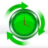 Horloge d'eco de vecteur Photographie stock