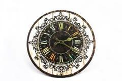Horloge d'isolement Photos stock