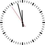 Horloge d'isolement Images stock