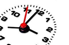 Horloge d'isolement au-dessus du fond blanc : date-limite Image libre de droits