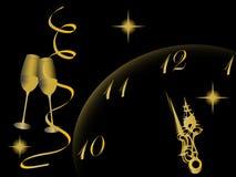 Horloge d'an neuf Image stock