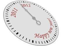 Horloge d'an neuf heureux Photos stock