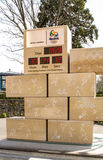 Horloge d'Olimpic à Lausanne Image stock