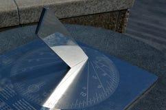 Horloge d'ombre - cadran solaire Photos libres de droits