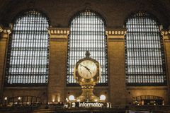 Horloge dans le Grand Central Station, NYC photographie stock