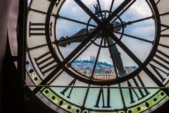 Horloge dans le musée d'Orsay, Paris image libre de droits