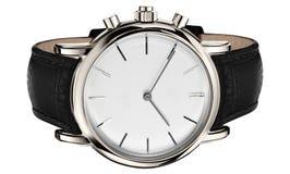 Horloge dat op wit wordt geïsoleerdt stock foto's
