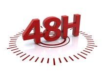 horloge de 48 heures Images libres de droits