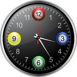 Horloge de boules de bingo-test Image libre de droits