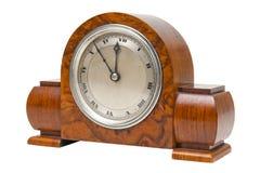 Horloge de bureau fleurie antique Image libre de droits
