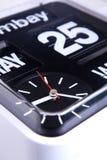 Horloge de calendrier Photo libre de droits