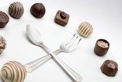 Horloge de chocolat Photographie stock libre de droits