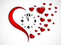 Horloge de coeur Photos libres de droits