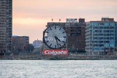 Horloge de Colgate - Jersey City Photos libres de droits