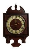 Horloge de cru au-dessus du fond blanc Photos libres de droits