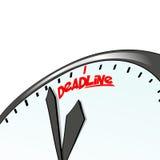 Horloge de date-butoir, concept de temps Fond d'affaires Vente d'Internet Infographic quotidien Photographie stock libre de droits