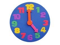 Horloge de `de cinq o Image libre de droits