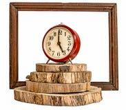 Horloge de `de cinq o Photographie stock libre de droits