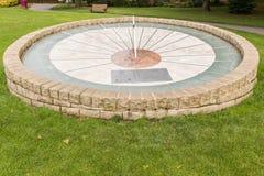 Horloge de Derbyshire Sun de parc de Swadlincote Photo libre de droits