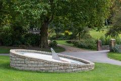 Horloge de Derbyshire Sun de parc de Swadlincote Images libres de droits
