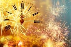 Horloge de ` de douze o - la veille du ` s de nouvelle année Image libre de droits