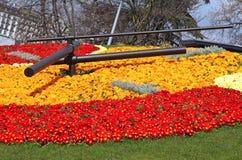 Horloge de fleur à Genève Photographie stock libre de droits