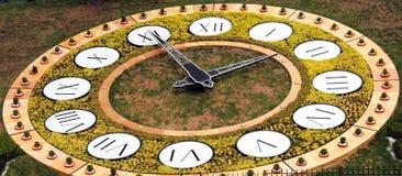 Horloge de fleur à Kiev Photographie stock libre de droits