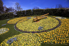 Horloge de fleur de Genève Image libre de droits