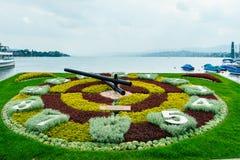 Horloge de fleur de Zurich photographie stock