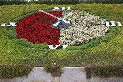 Horloge de fleurs Photographie stock libre de droits