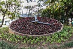Horloge de fleurs chez Blumenau Santa Catarina Photo libre de droits