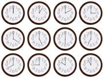 Horloge de fuseau horaire. Photographie stock libre de droits