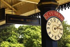 Horloge de gare Images stock