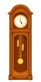 Horloge de grand-père de Longcase sur le blanc Illustration de vecteur illustration libre de droits